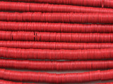 Red Vinyl Disc Beads 6mm (VY193)