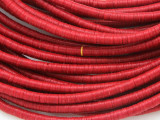 Red Vinyl Disc Beads 3-4mm (VY194)