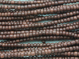 Small Brown Glass Trade Beads 4mm (AT7026)