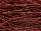 Dark Red Glass Seed Beads 1mm - Ghana (AT7065)
