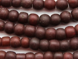 Russet Brown Round Glass Trade Beads 9-12mm (AT7129)