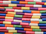 Multi-Color Magnesite Tube Gemstone Beads 12mm (GS3654)