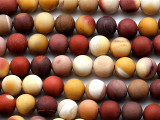 Matte Moukaite Round Gemstone Beads 8mm (GS3693)