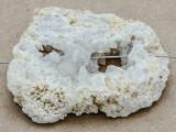 White Druzy Agate Pendant 44mm (GSP921)