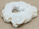 White Druzy Agate Pendant 66mm (GSP1030)