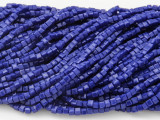 Cobalt Blue Cube Crystal Glass Beads 2.5mm (CRY179)