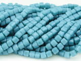 Aqua Blue Cube Crystal Glass Beads 4mm (CRY180)