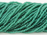 Emerald Green Crystal Glass Beads 2mm (CRY190)