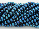 Metallic Blue Crystal Glass Beads 6mm (CRY224)