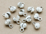 Silver Plated Clapperless Bells 10mm - Pack of 10 (AP1844)