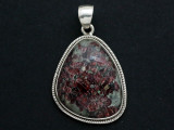 Sterling Silver & Eudialyte Pendant 34mm (GSP785)