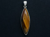 Sterling Silver & Tiger Eye Pendant 45mm (GSP807)