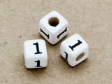 """Ceramic Alphabet Bead """"1"""" - 6mm (CER11)"""