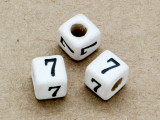 "Ceramic Alphabet Bead ""7"" - 6mm (CER17)"