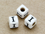 "Ceramic Alphabet Bead ""I"" - 6mm (CER27)"
