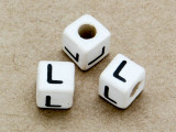 "Ceramic Alphabet Bead ""L"" - 6mm (CER30)"