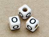 "Ceramic Alphabet Bead ""O"" - 6mm (CER33)"
