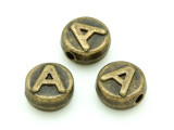 Brass Pewter - A - Round Bead 10mm (PB645)