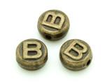 Brass Pewter - B - Round Bead 10mm (PB646)