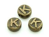Brass Pewter - K - Round Bead 10mm (PB653)