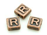 Copper Pewter - R - Square Bead 10mm (PB674)