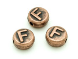 Copper Pewter Bead - F - Round 10mm (PB677)