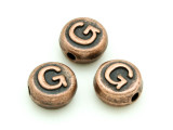 Copper Pewter Bead - G - Round 10mm (PB678)