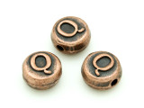 Copper Pewter Bead - Q - Round 10mm (PB679)