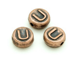 Copper Pewter Bead - U - Round 10mm (PB680)