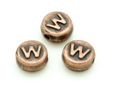 Copper Pewter Bead - W - Round 10mm (PB682)