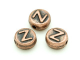 Copper Pewter Bead - Z - Round 10mm (PB684)