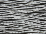 Gunmetal Silver Hematite Tube Gemstone Beads 3-4mm (GS3705)
