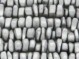 Silver Hematite Nugget Gemstone Beads 14mm (GS3769)