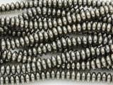 Bronze Electroplated Hematite Disc Gemstone Beads 6mm (GS3771)