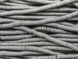 Gunmetal Silver Electroplated Hematite Heishi Gemstone Beads 4mm (GS3806)