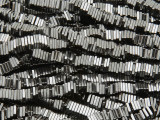 Gunmetal Silver Electroplated Hematite Square Heishi Gemstone Beads 4mm (GS3808)