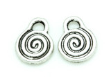 Spiral - Pewter Charm 14mm (PW1160)