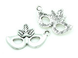 Mardi Gras Mask - Pewter Charm 26mm (PW1163)