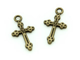 Brass Cross - Pewter Charm 21mm (PW1169)