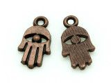 Copper Hamsa Hand - Pewter Charm 15mm (PW1173)