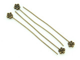 Brass Pewter Flower Headpin 48mm (PB707)