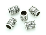 Pewter Bead - Tube w/Star 12mm (PB744)