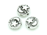 Pewter Bead - Moon and Star 9mm (PB754)