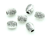Pewter Bead - Flower Barrel 8mm (PB760)