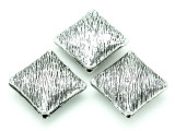 Pewter Bead - Brushed Diamond 30mm (PB771)