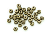 Brass Pewter Bead - Striped Cylinder 3mm (PB781)