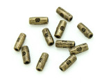 Brass Pewter Bead - Tube 6mm (PB786)