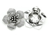 Flower - Pewter Pendant 38mm (PW798)