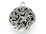 Ornate Round - Pewter Pendant 30mm (PW813)