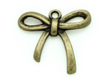 Brass Bow - Pewter Pendant 26mm (PW825)